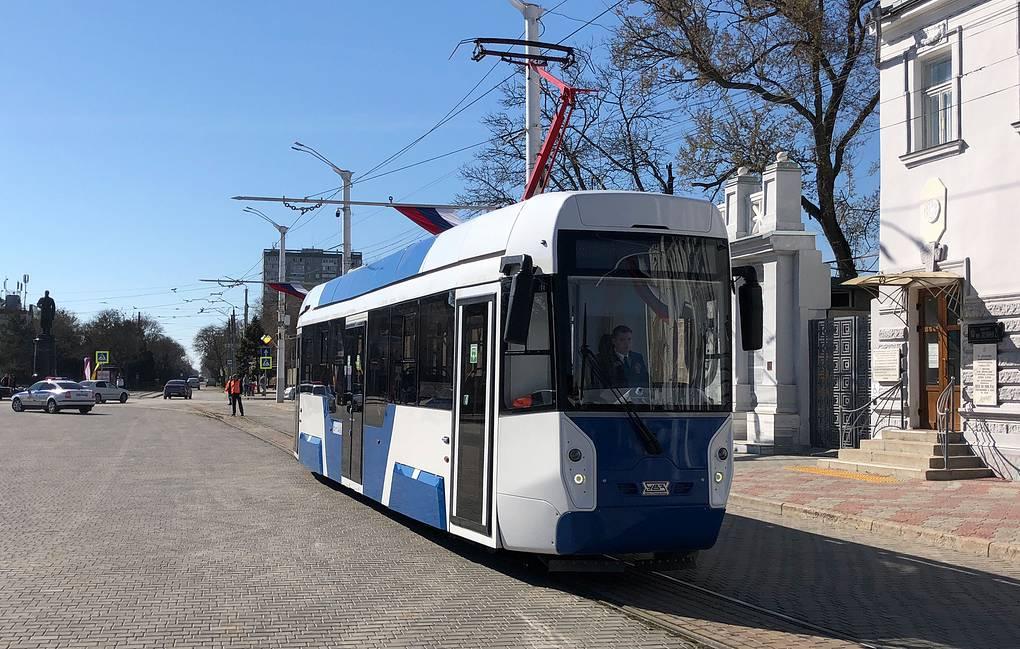 Новые трамваи в Евпатории